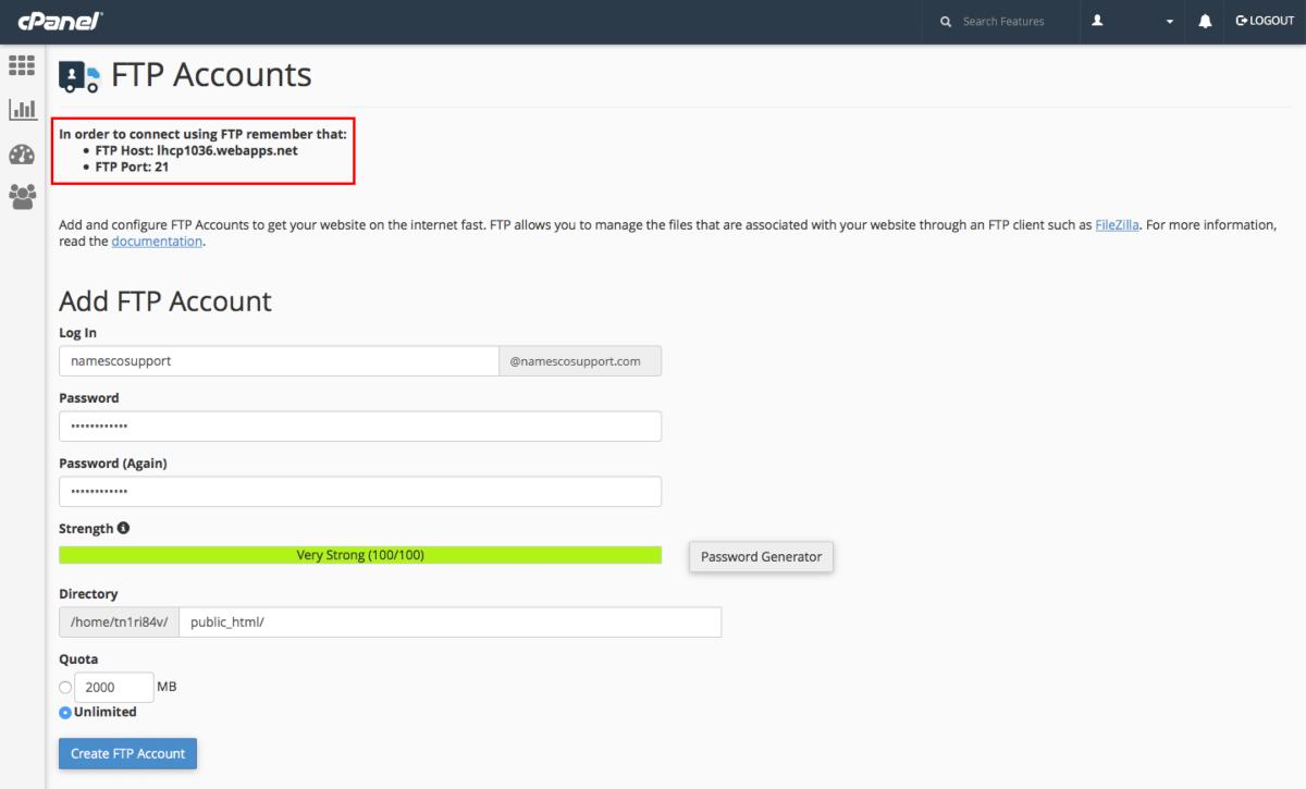 شرح إنشاء حساب FTP إضافي من السى بانل