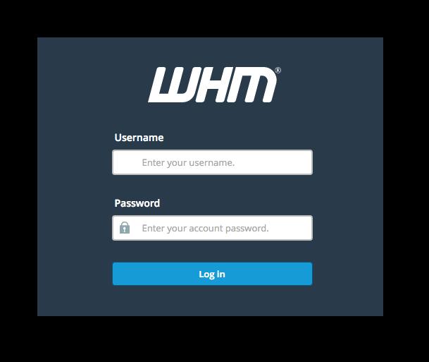 تغيير كلمة مرور الموقع من WHM